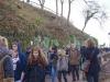 Marsch von der Wartburg – über 90 Personen machten sich von der Wartburg aus auf den Weg in die Stadt – ein demokratisches Pendant zum Marsch der Burschenschaften auf die Wartburg.