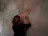 Vernissage - Sehnsucht auf der Mauer-Leinwand