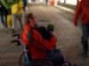 StadtKlangBild-Installation in Eisenach: mit Rollstuhl und Klangrucksack